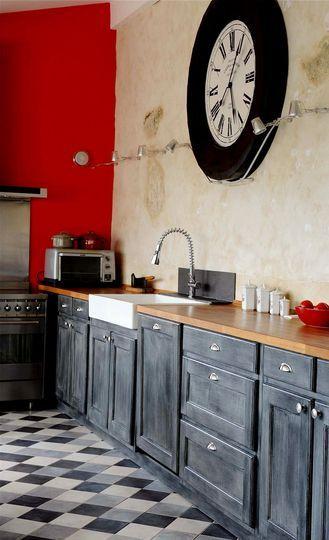 Auberge du bonheur : esprit récup' dans la cuisine - Jolies maisons dans le Perche - CôtéMaison.fr