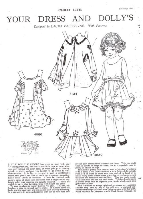 Your Dress & Dolly's by Laura Valentine Feb 1923