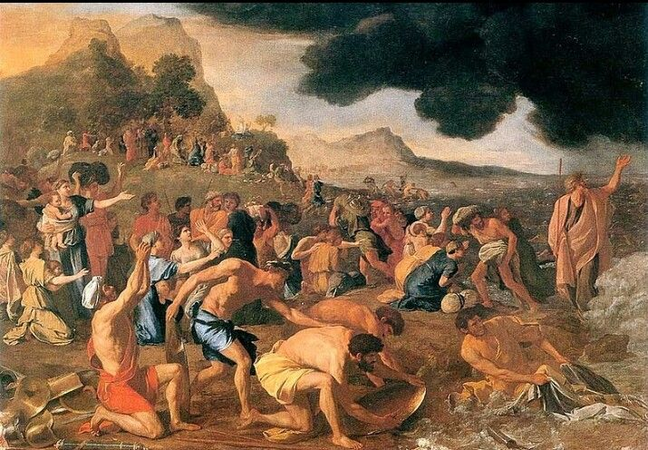 Nicolas Poussin Moses Crossing The Red Sea Crossing The Red Sea