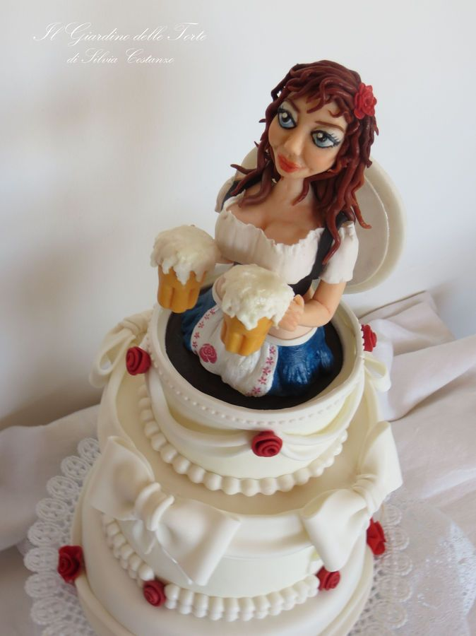 oktoberfest cake - Woman Decorating Cupcakes