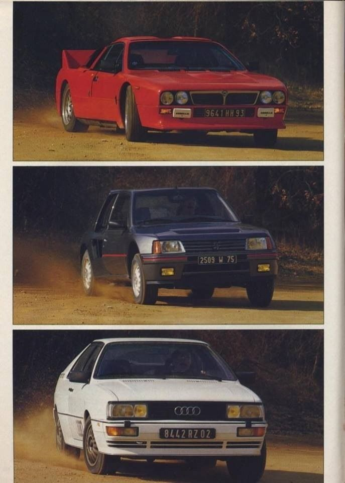 The road versions of Peugeot 205 T16, Audi Quattro and ...