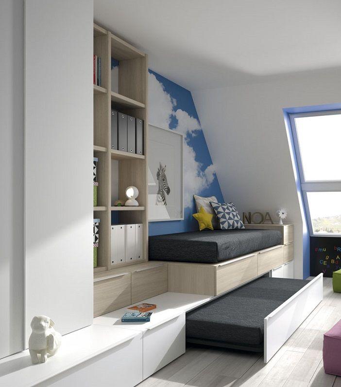 28 best camas para dormitorios con poco espacio images on - Dormitorios juveniles con poco espacio ...