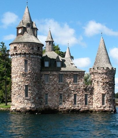 Boldt Castle in Heart Island, Alexandria Bay, New York.