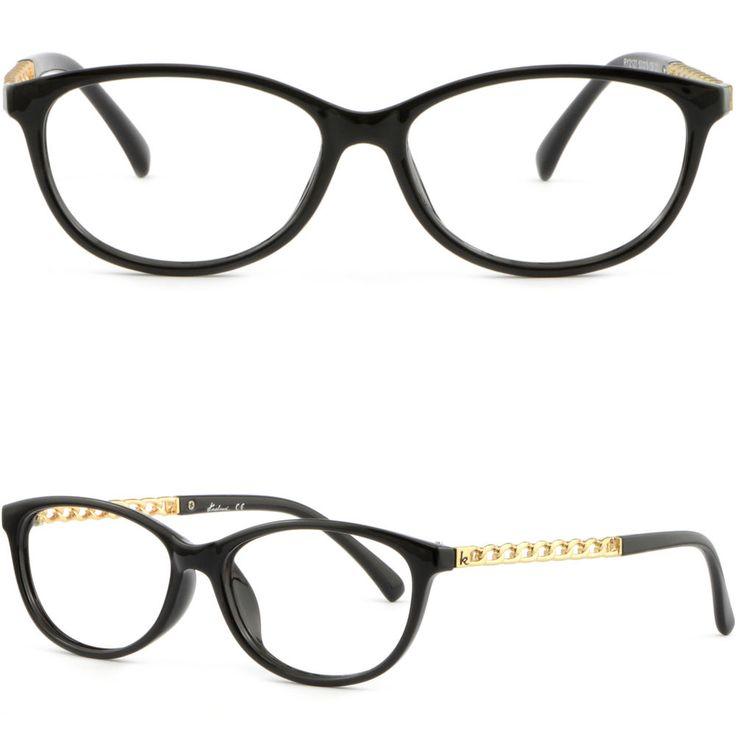 Light Women's Plastic Frames Glasses Photochromic RX Sunglasses Gold Shiny Black #Unbranded
