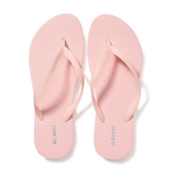 Old Navy Womens Classic Flip Flops ($3.94) ❤ liked on Polyvore featuring shoes, sandals, flip flops, pink carnation, twisted shoes, strappy shoes, grip shoes, strappy sandals and old navy