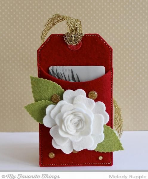 Felt Gift Card Tag by mrupple - Cards and Paper Crafts at Splitcoaststampers