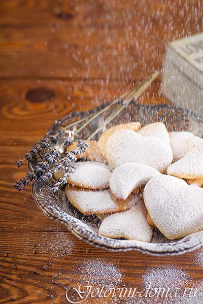 """Рецепт: Печенье песочное """"Сметанное"""""""