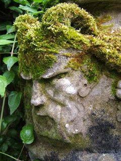 Moss Covered Garden Face