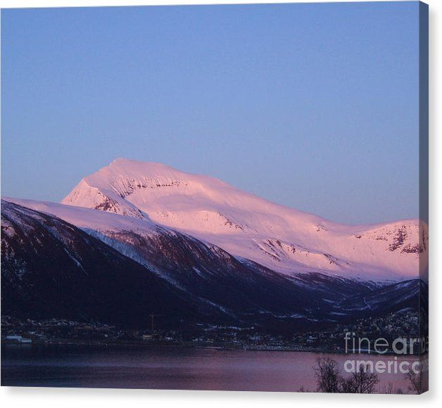 Buy a 20.00 x 16.00 stretched canvas print of Sverre Andreas Fekjan's Tromsdalstinden in pink for $53.00.  Only 25 prints remaining.  Offer expires on…