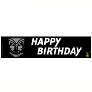 $2.75 NRL Warriors Birthday Banner Ea | Party Supplies, Decorations, Papers, Tableware | LOMBARD - The Paper People