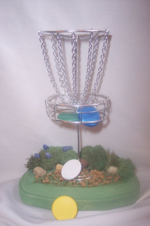 cool idea for Chris' bday...  Disc Golf Table Top Game with four custom hand by jenkuehle, $19.99