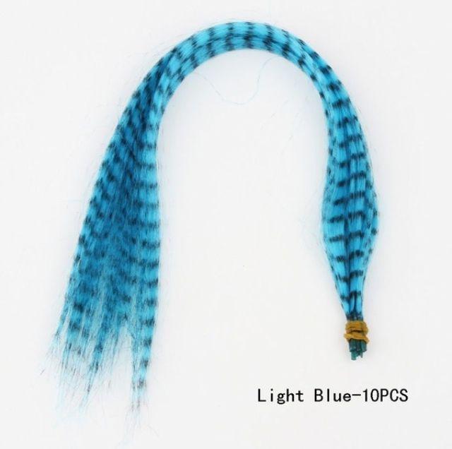 1 Tip Hiar Light Blue Omber Hair