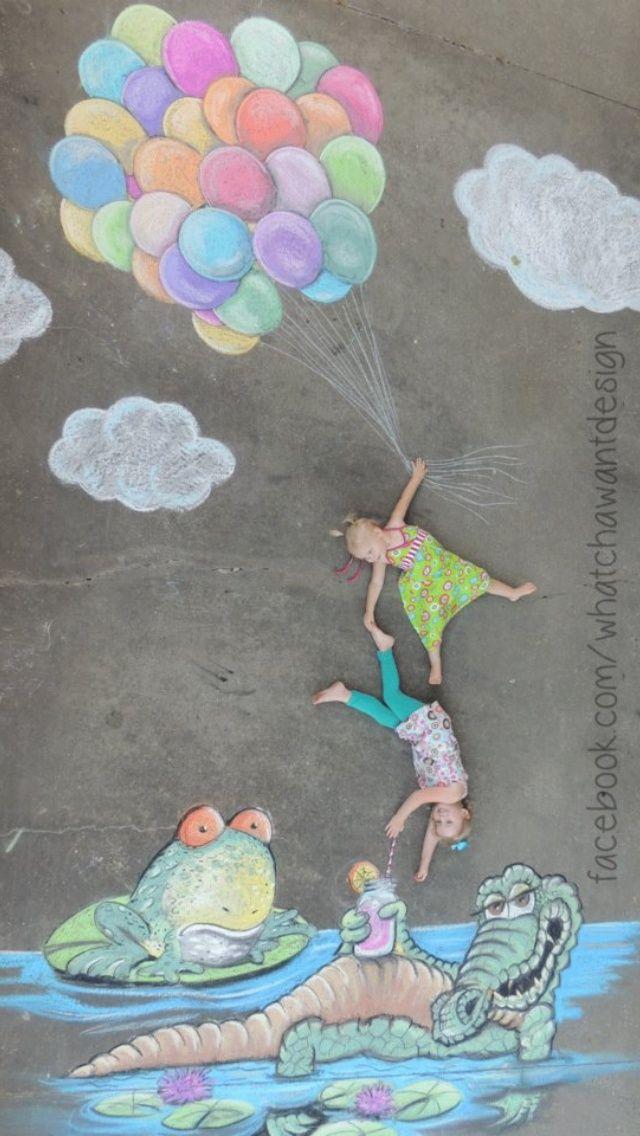 sidewalk chalk photography | Sidewalk chalk + fun photo shoot with my girls = the perfect Father's ...