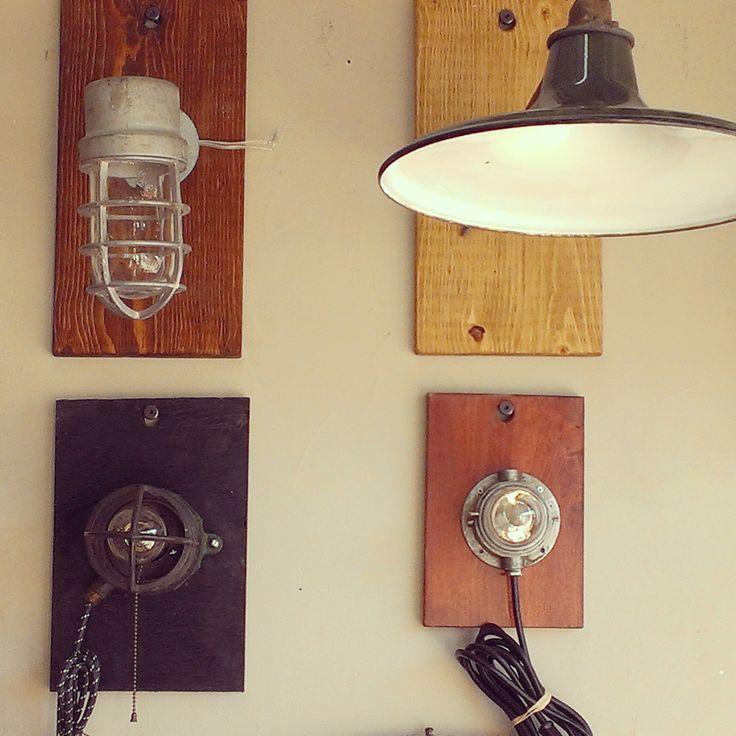 Vintage Industrial Wall Lights ~ #vintage #lighting #industrial  *JoJo's Place www.jojosplace.com