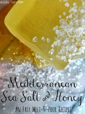 How to Make Mediterranean Sea Salt & Honey Soap (No Lye)