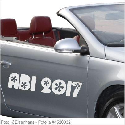 Autoaufkleber und Sticker ABI 2017 Flower Style