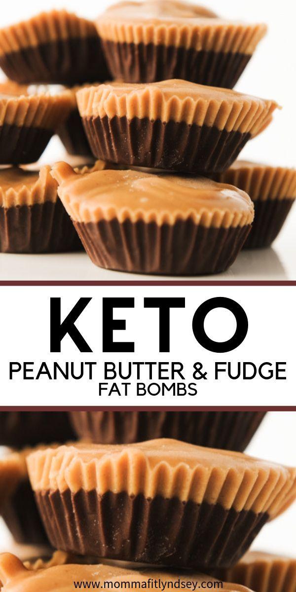 Easy Keto Snack Low Carb Erdnussbutter & Schokoladenfondant. Süßer Snack …