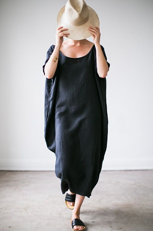 Linen Cocoon Dress / Rachel Craven Textiles