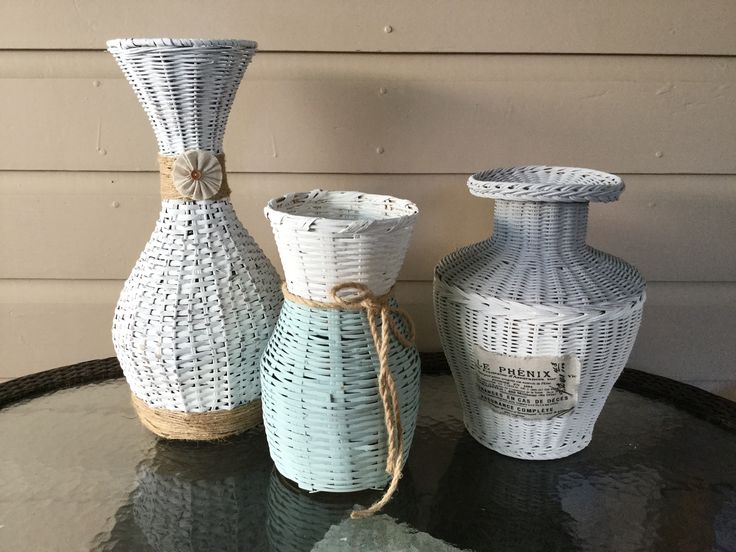 Vintage baskets from repurposed old baskets.