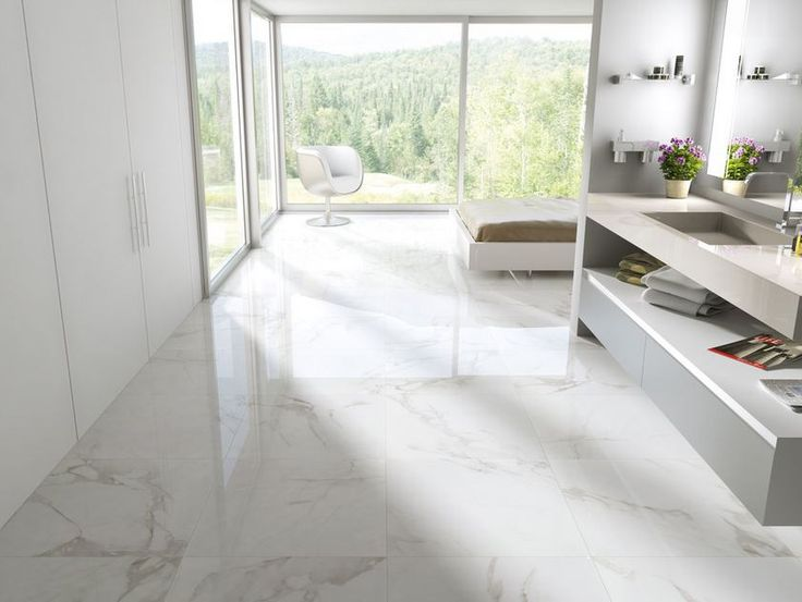 Carrara Polished Porcelain 12x12 12x24 24x24 Portland Direct