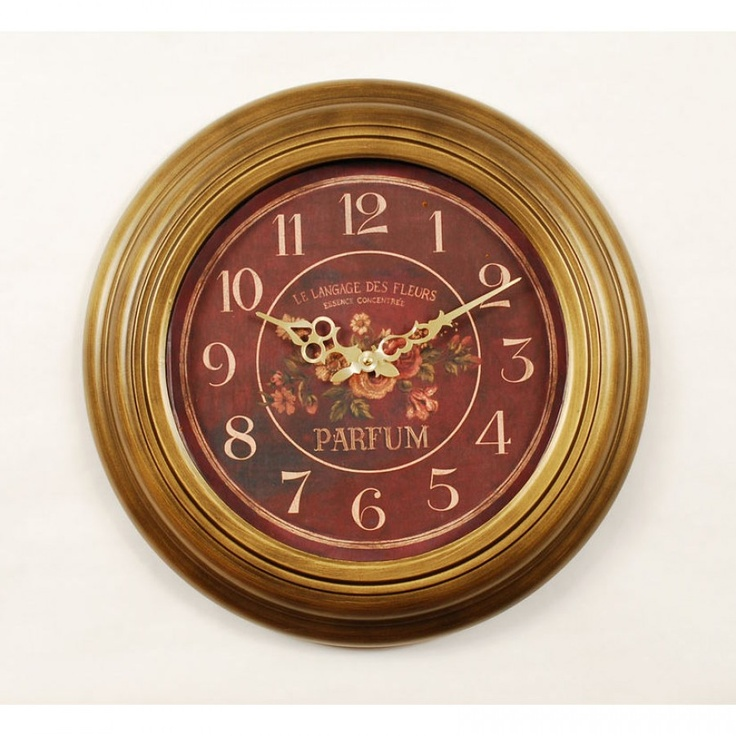 ashton sutton parfum classic wall clock in gold stm146