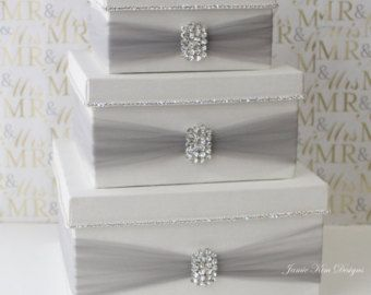 Wedding Card Box Money Box Card Holder Custom by jamiekimdesigns