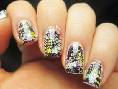 Punk Rock Grunge Nail Of The Day - A Painted Nail
