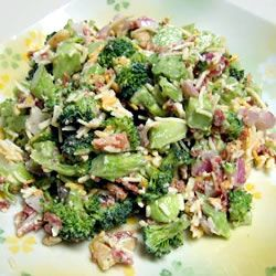 Bodacious Broccoli Salad Allrecipes.com  I'm going to try this with fat free mayo and turkey bacon   :)
