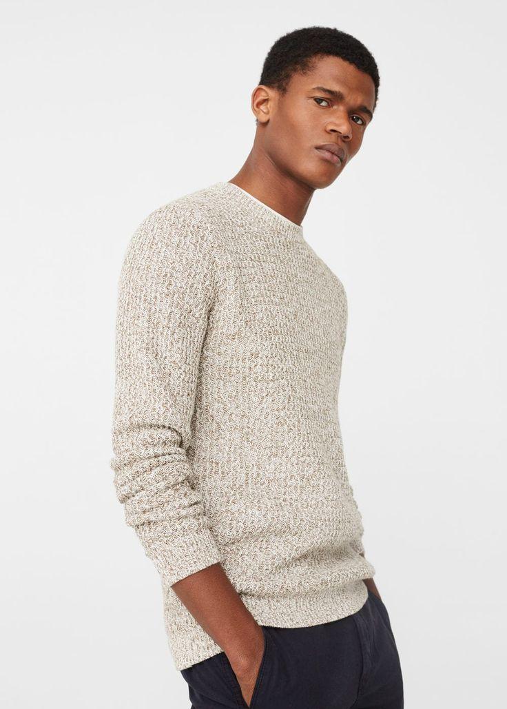 Bawełniany melanżowy sweter -  Mężczyzna | MANGO Man Polska