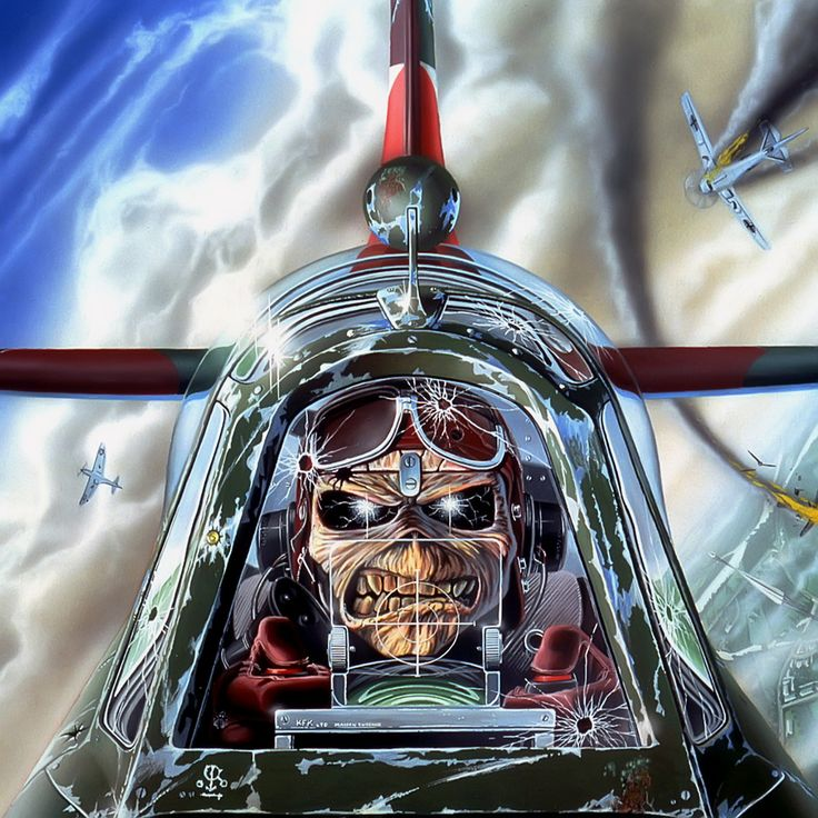 Aces High Artwork by Derek Riggs for Iron Maiden.
