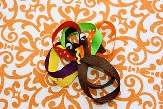 Turkey Ribbon - make body with more ribbon