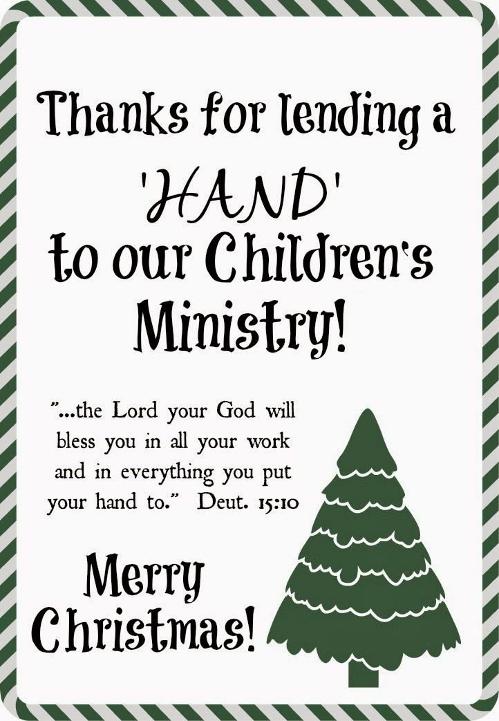 Quick!  Do you have Youth Ministry volunteers to thank? How about Children Ministry helpers to thank?   We do!    Here's an easy gift for a...