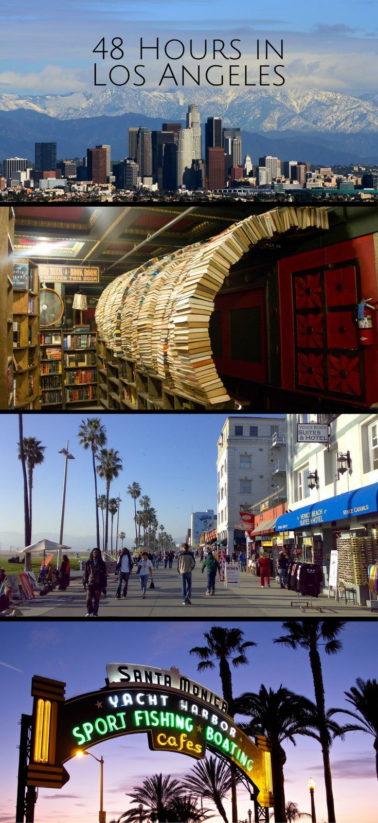 From the Walk of Fame and Venice Beach, to the Santa Monica Pier.