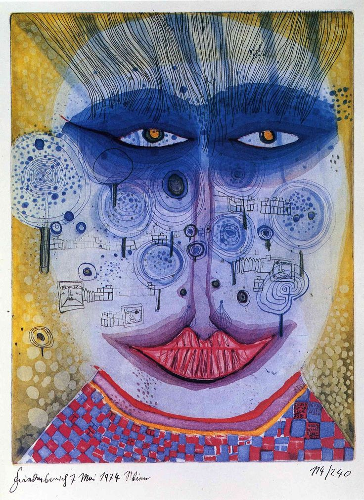 hundertwasser....the coloring is so beautiful...seen some pieces of him while in Vienna