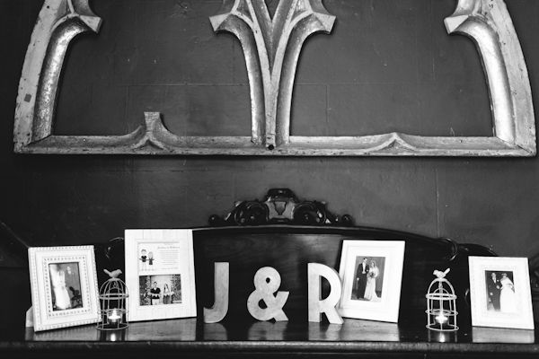 pictures of us on console table when you walk in