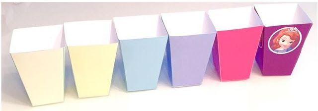 Cajas de Colores para Popcorns de Fiesta de 15 Años para Imprimir Gratis.