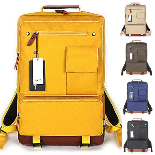 Yellow Backpacks for Men Best College Backpack Laptop HERZ 113