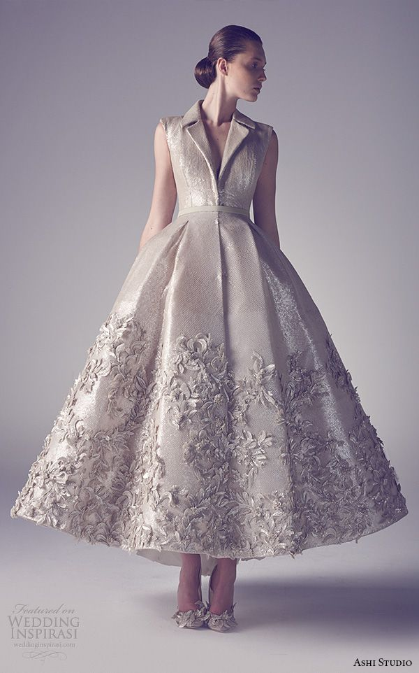 Ashi Studio Spring 2015 Couture Collection | #Wedding Inspirasi #bridal #weddings #tealength #weddingdress #weddinggown