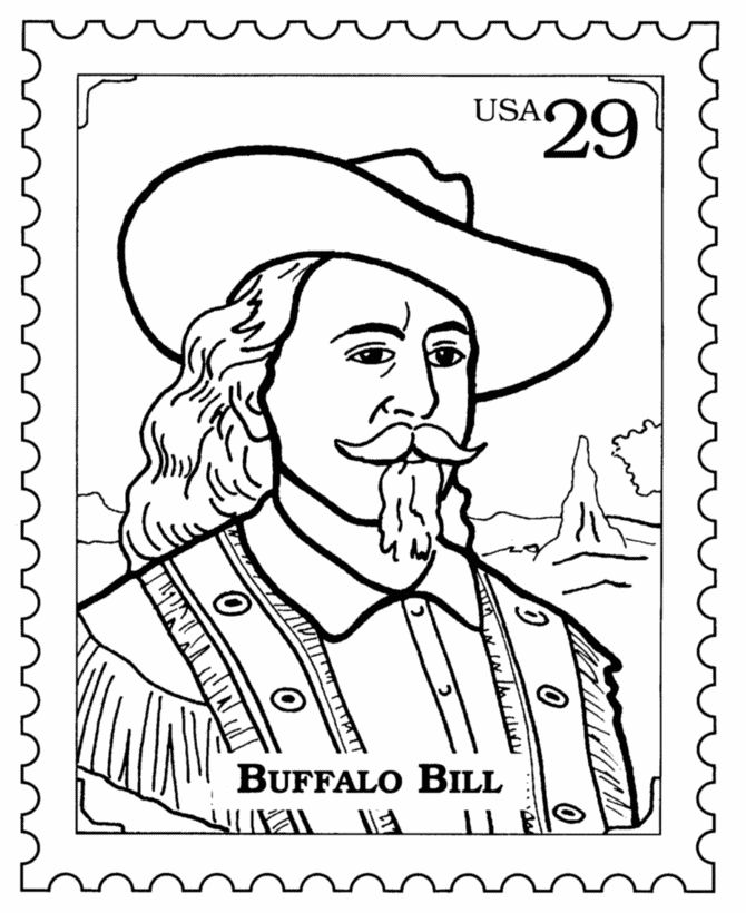 Buffalo bills coloring pages and postage stamps on pinterest for Buffalo soldiers coloring pages