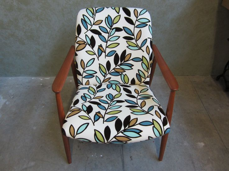 #accent #chair #repaired #refinished & #reupholstered by AM Furniture Finishing.  Front view