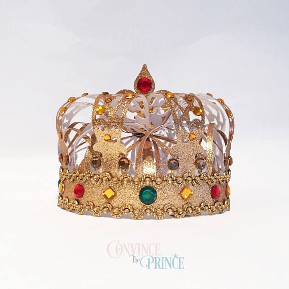 Crown template 3D digital files SVG JPG princess prince first