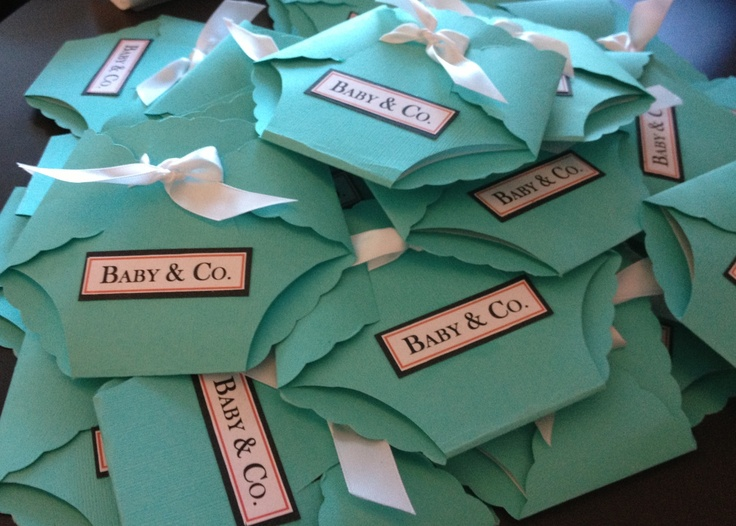 Diaper Shaped Invites For Tiffany Amp Co Baby Shower So