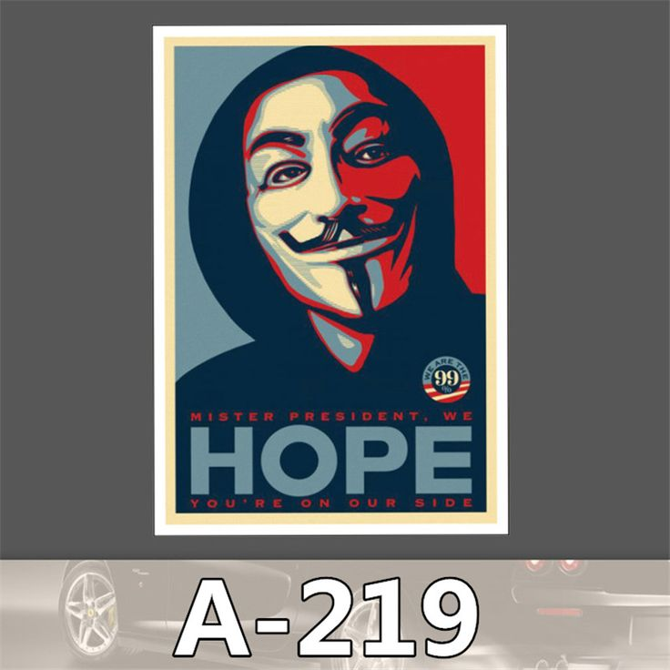 A 219 Tide Brand V Word Vendetta Pvc Anonymous Pamphlets Waterproof Stickers toon Trunk Dead Fly Skateboar-in Stickers from Toys & Hobbies on Aliexpress.com | Alibaba Group