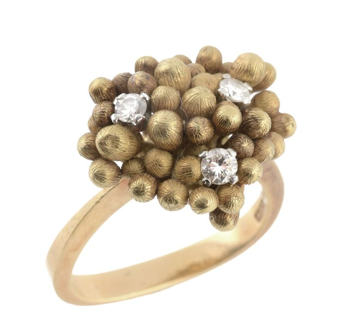 An 18 carat gold diamond ring by Andrew Grima. To be auctioned in Fine Jewellery | 26 March 2015 [Lot 602]