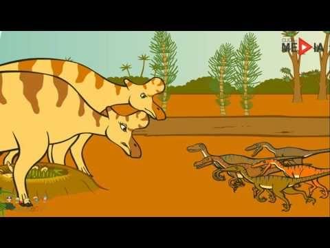 Dinosaure Dessin Animé  Dessin Animé ÉDUCATIF, L'exploration Du Monde De...