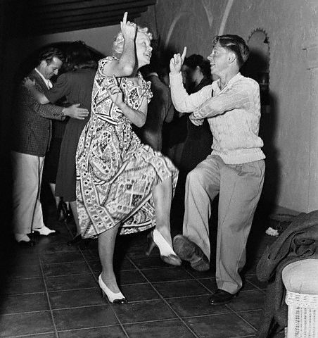 Mickey Rooney dancing with his mother Nell. Nell was in vaudeville & Took Mickey onto the stage as a toddler.