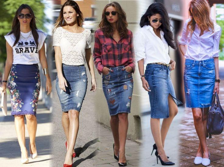что носить с джинсовой юбкой: 19 тыс изображений найдено в Яндекс.Картинках