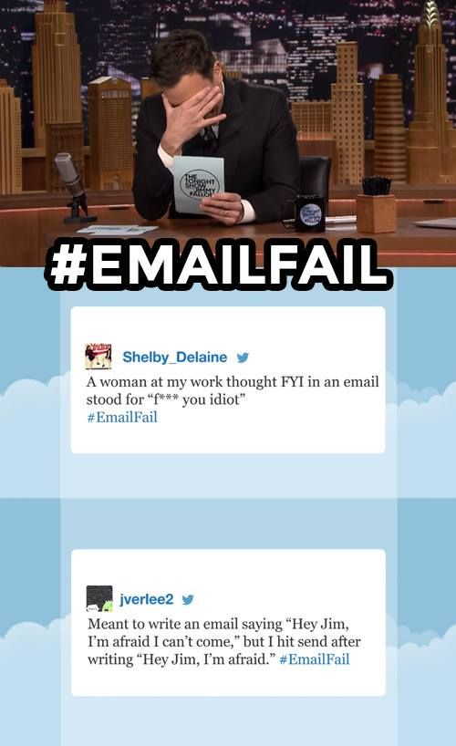 The Tonight Show starring Jimmy Fallon - Hashtags emailfail