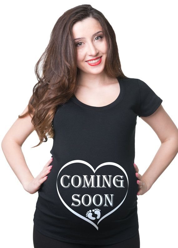 Coming Soon Pregnancy Tee Shirt Baby Announcement Birth Announcement  Cute Maternity Tee Baby Shower Gifts