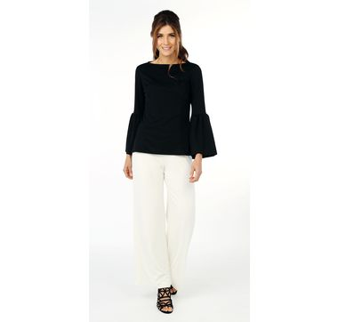 Guillaume Crepe Jersey Flared Sleeve Top